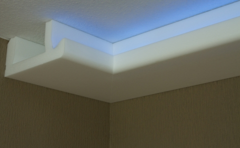 stuck led beleuchtung profil zierprofil. Black Bedroom Furniture Sets. Home Design Ideas