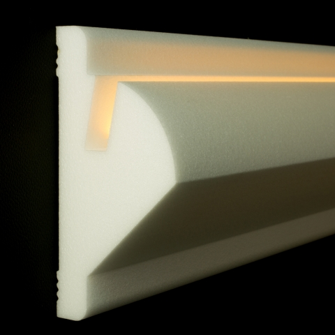 led profil wandprofil wandstuckleiste indirekte beleuchtung. Black Bedroom Furniture Sets. Home Design Ideas