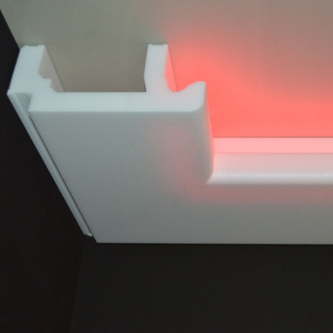 stuckpleiste f r indirekte beleuchtung. Black Bedroom Furniture Sets. Home Design Ideas