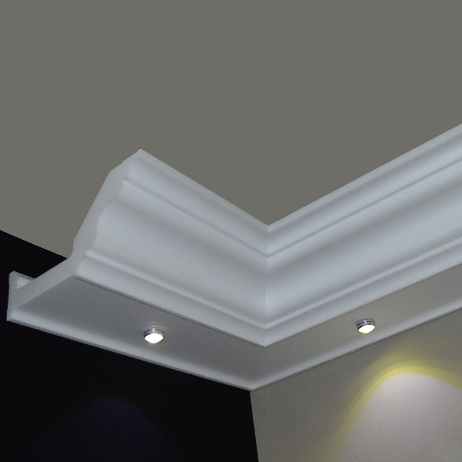stuck led beleuchtung profil zierprofil stuckleisten. Black Bedroom Furniture Sets. Home Design Ideas