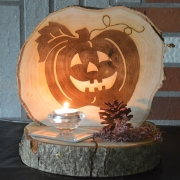 wooden picture Halloween